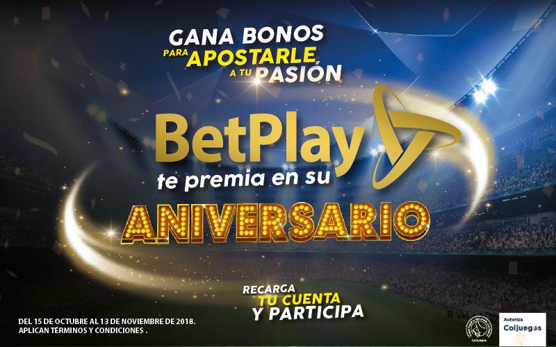 BetPlay te premia en su Aniversario